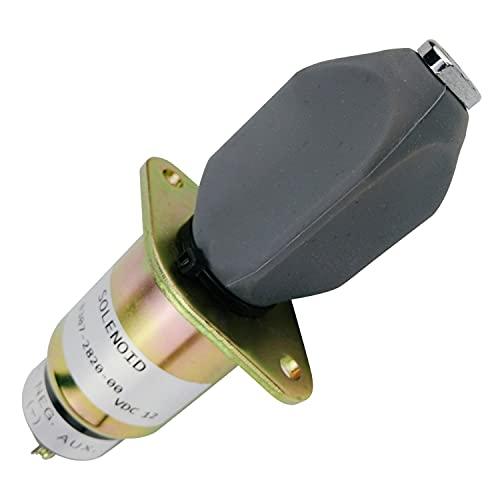 Hachiparts 0307-2820-00 307-2820-00 0307282000 Solenoide de combustible de 12 V 307282000 307-2820 3072820 Compatible con grupo electrógeno Cummin s Compatible con Ona n