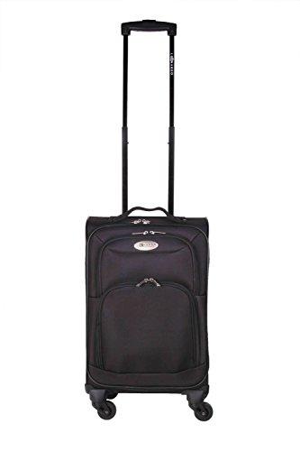 31 L Leonardo Koffer Reisekoffer Handgepäck Trolley Koffer Boardcase schwarz