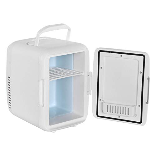 Emoshayoga Mini refrigerador Durable Multifuncional refrigerador portátil refrigerador Compacto Oficina del Coche para el hogar(White)