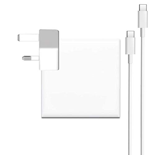 87w USB C Charger compatible with Macbook Pro Charger USB C 15 inch 2016 2017 2018,Replacement Charger for 15 inch laptop thunderbolt charger With USB C Cable 6.6ft