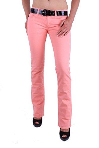 Just Cavalli Damen Jeans Hose Röhre Skinny (W28, Rosa)