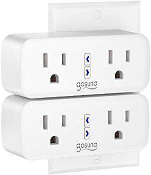 2-Pack Gosund Dual Socket WiFi Smart Plug Outlet Extender