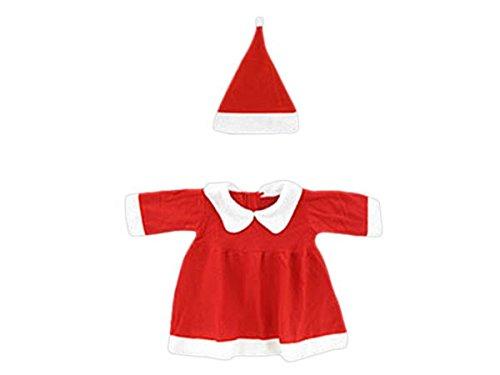 Alsino Weihnachtskostüm Mädchen Baby Weihnachtskleid (Wk-95) Nikolauskostüm 2-teilig bis 12 Monate Größe 60-92