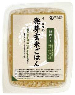 オーサワの発芽玄米ごはん(雑穀入り)160g×10個           JAN:4932828023021