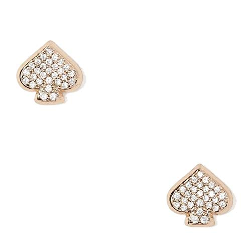 Kate Spade New York Everyday Spade Pave Studs (Rose Gold/Clear)