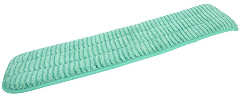 Janico 6224GR JaniFiber Microfiber Scrubbing Looped Wet Mop Pad, Highly Absorbent, 24 Inch Long, Green
