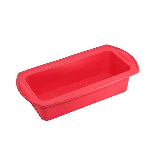 Molde de silicona para pan y pan – Molde de silicona antiadherente para panes, panes, pasteles y lasaña – 10.6'x5' 'x2.4' rosso
