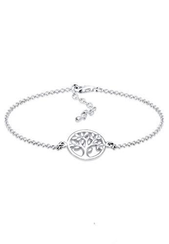 Elli Armband Elli Damen Armband Lebensbaum Kreis Blatt Floral in 925 Sterling Silber
