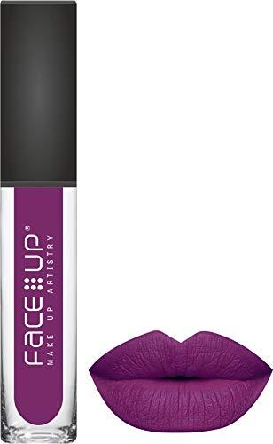 FACE UP LONG WEAR MATTE LIQUID LIPSTICK 6ml (SHADE – 010), Purple Mauve