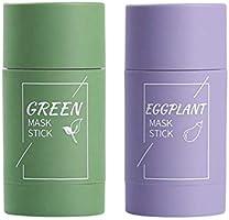 Diepe reiniging maskm, Groene thee crème, 2 stks Groene Thee Zuiverende Klei Stok Masker Olie Controle Effen Masker...