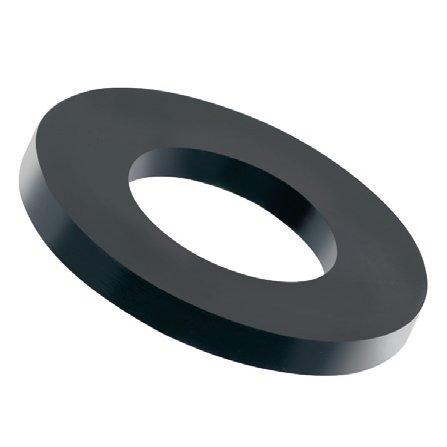 100 Stück Kunststoff Unterlegscheiben schwarz M8