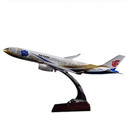 XHH Airplane Model Sculpture 40cm Resin A330 Purple Morning Airplane Model Aviation Airplane Model A330 Airbus Aviation Model Gift Toy