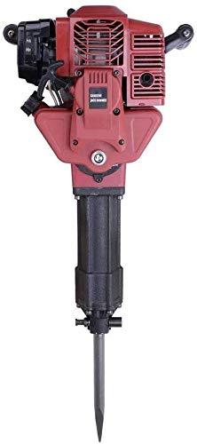 Juego profesional de martillo demoledor de gasolina de 2,5 CV, motor de gasolina de 2 tiempos, refrigerado por aire, 20-55J, incluye 2 cinceles y accesorios, cuerda de arranque.