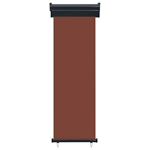 Tidyard Senkrechtmarkise Vertikalmarkise Sonnenschutz Windschutz Seitenrollo Sichtschutz Braun 60 x 250 cm