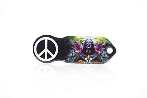 """Einkaufswagenlöser Code24 Peace"""", Praktischer Einkaufschip & Schlüsselanhänger / Motiv: peace, inkl. Schlüsselfundservice, Key-Finder"""