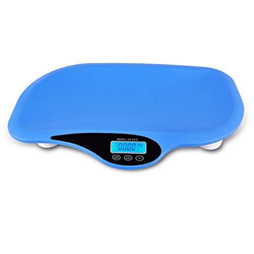 CHICTI Balanzas Electrónicas, Música Inteligente Multifunción Bebé con Cinta Métrica Balanza Bebé Medición De Altura Peso Corporal Pequeño (Color : Blue)