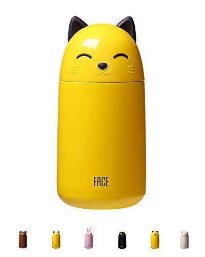 FACE Borraccia Acqua Bambini Bottiglia Termica Acciaio Inox Senza BPA 300 ml, Isolamento Sottovuoto a Doppia, No Condensa, a Prova di Perdite, Termos Sportiva per Scuola, Palestra, Sport