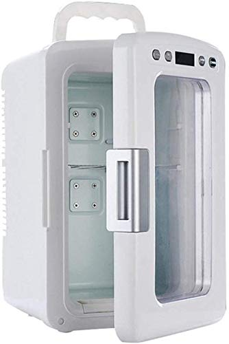 LLYU Transparent 12 litres Mini-réfrigérateur - Chauffage Cooler Voiture avec Le Mode Eco Home Cosmétique/Réfrigérateur Médical Caves à vin Congélateur Contrôle de la température Affichage numérique