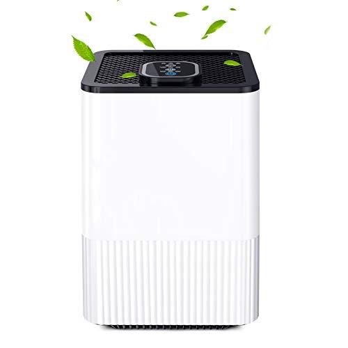 Luftreiniger mit 4-in-1-HEPA Filter, Nachtlicht und Timing-Funktion, Startseite Luftreiniger Beseitigen Sie Rauch, Staub, Pollen, Hautschuppen, für Zuhause, Schlafzimmer, Wohnzimmer, Küche und Büro