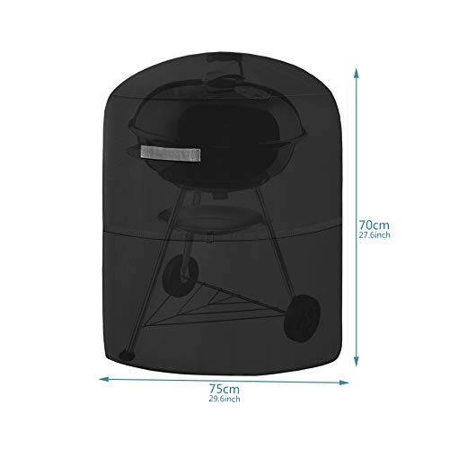 Dokon Kettle BBQ Cover, Round Barbecue Cover Waterproof, Windproof, Anti-UV 420D Oxford Fabric Round Gas Grill Cover…
