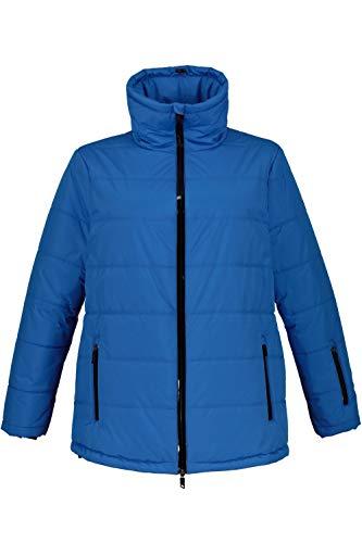 Ulla Popken Damen große Größen Skijacke knallblau 54/56 725345 73-54+