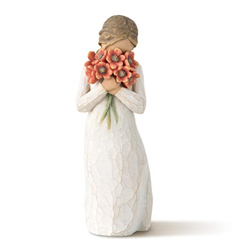 Willow Tree Surrounded by Love Hand-Painted FIgurine