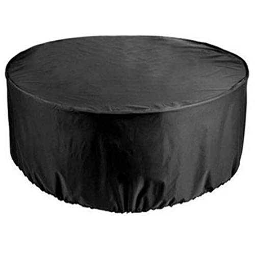 BAOFI 225x98cm Garden Furniture Covers, Patio Furniture Cover Round Waterproof Heavy Duty Patio Table Covers, Dust-proof Anti-UV Outdoor Tables And Chairs Combination Cover, 15 Sizes,Black