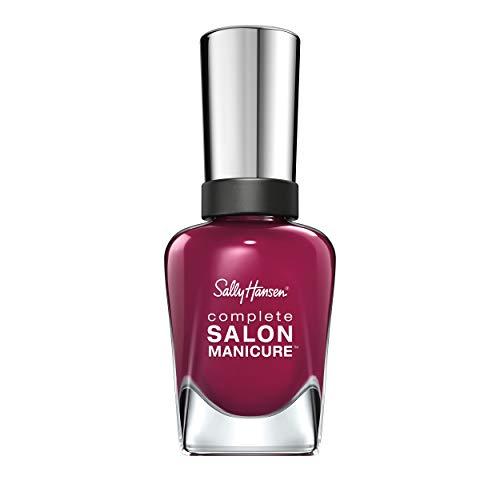 Sally Hansen Complete Salon Manicure Nagellack mit Keratinkomplex Scarlet Fever, rote Beere, glänzender Pflegelack ohne UV-Licht, langanhaltend Nr. 639, (1 x 14,7 ml)