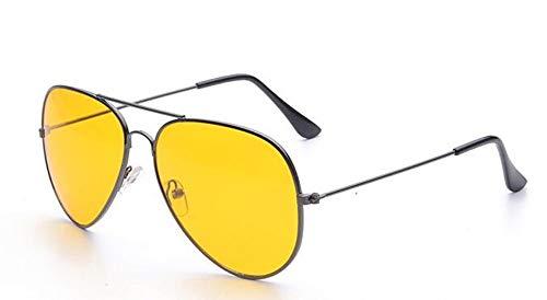 KONGYUER Sonnenbrillen, Brillen,Grauer Rahmen Agray Rahmen Brille Frauen Nachtsicht Brillen Brillengestelle Frauen EyewearUv400