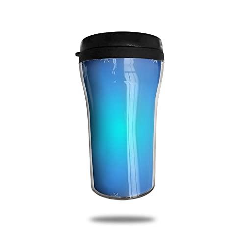 OUYouDeFangA Blue Stars - Taza de café con impresión 3d en 3D, taza de té aislada, botella de agua para beber con tapa, 250 ml