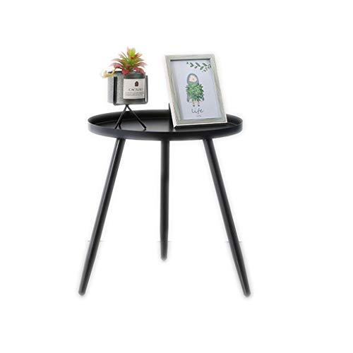 Table d'appoint Table basse en métal, table d'appoint de canapé de salon moderne Petite table à manger Table de chevet de chambre à coucher (Color : Black, Size : 40 * 40 * 42cm)