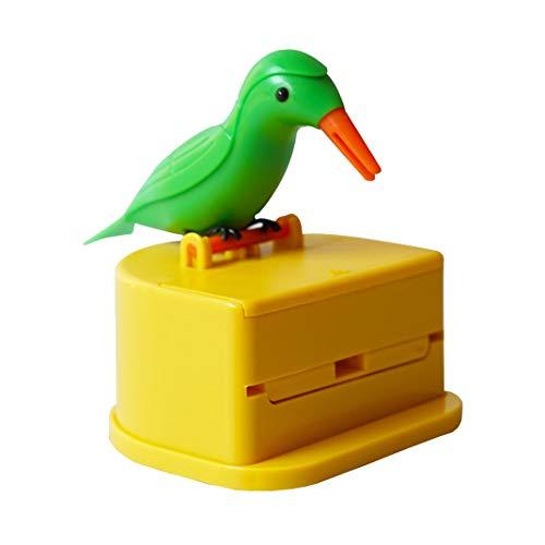 AOOPOO Porta Palillos de Dientes Automático en Forma de Cartoon Pájaro, Dispensador de Palillo de Dientes, Envase de Moldadientes, Automatic Little Bird Toothpick Holder Box 8 * 8 * 9 cm (Color B)