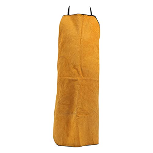 Welding Apron Cowhide Apron, Fireproof Star Welding Overalls, Thickened Thermal Insulation Welding Apron (Color : Yellow, Size : 100cm)