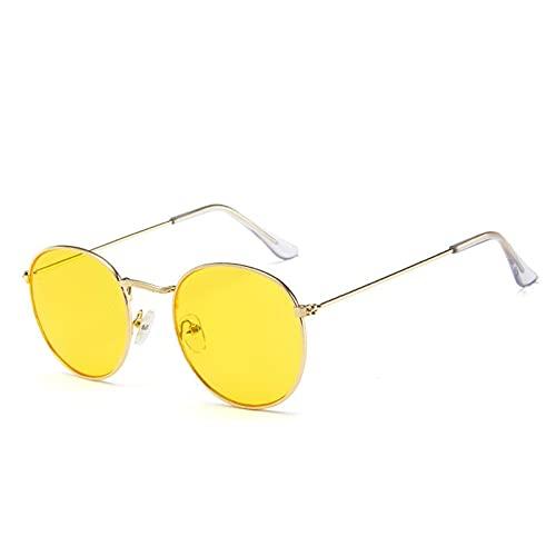 NBJSL Gafas de sol ovaladas Mujer / Hombre diseñador de la marca vintage pequeño negro rojo amarillo gafas de sol
