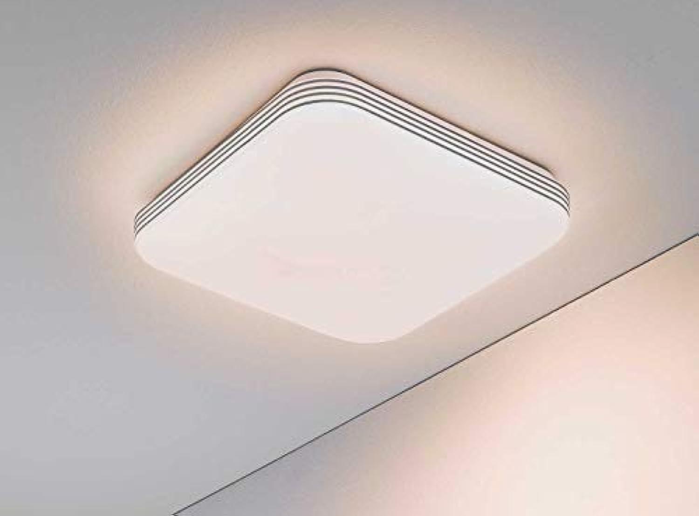 LED-Deckenleuchte Deckenlampe Wohnzimmerlampe Avid 11  Acryl  Wei  33 x 33 cm  Dimmbar