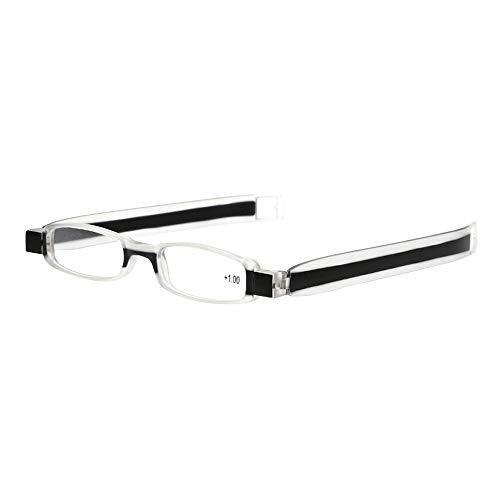 ZEZKT gafas viejas de hipermetropía ligera para hombres y mujeres lectura gafas para lectura con discapacidad visual gafas graduadas giratorias de 360 grados