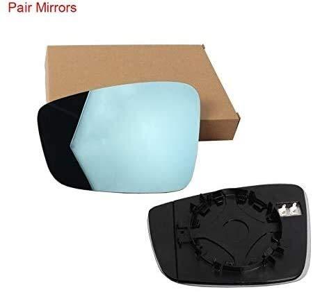 Automotriz Espejo Exterior sustitución de vidrio, azul climatizada retrovisor izquierdo Lado derecho ala espejos de cristal con el plástico titular de la placa de respaldo for VW Jetta MK6 Edi