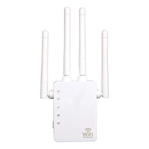 skrskr WiFi Booster 1200Mbps Banda dual 2.4GHz 5GHz WiFi Internet Amplificador de señal Repetidor inalámbrico para enrutador con cuatro antenas Dos interfaces
