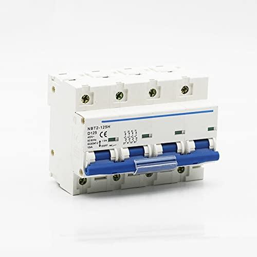 LUOXUEFEI Disyuntor Diferencial Interruptor 4P 80A 100A 125A 400Vac Disyuntor Interruptor Principal Interruptor De Curva D