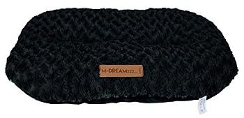 M-PETS Shetland Coussin Ovale pour Chien Noir 60 x 40 cm Taille S
