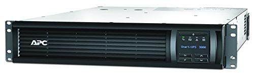 APC 3000VA Smart UPS with SmartConnect, SMT3000RM2UC Rack Mount UPS Battery Backup, Sinewave, AVR, 120V, Line Interactive Uninterruptible Power Supply black