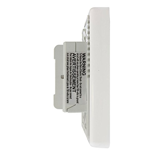 QuietWarmth THERMST-D Digital Non-Programmable Thermostat with Built-in GFCI, White