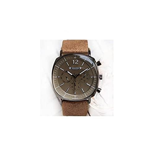 WYZQ Reloj para Hombre Doble Calendario Clásico Retro Reloj Simple Multifunción Luminoso Sixneedle Machine Reloj Impermeable (Color: B) (Color: D), Relojes