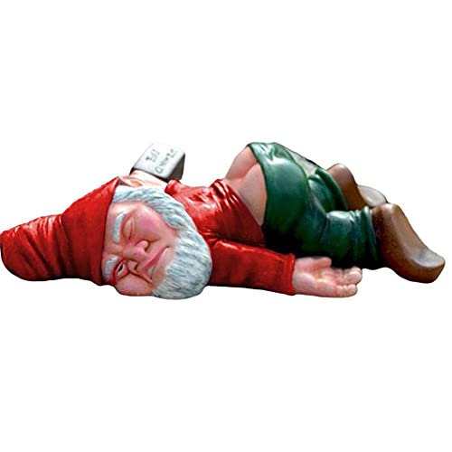 Gartenzwerg Statue Lustige Zwerg Skulptur mit nacktem Hintern Niedlich betrunken Zwerg Statue Liegend auf dem Boden Figuren für Haus Garten Hof Terrasse Outdoor Dekoration Ornament Geschenk