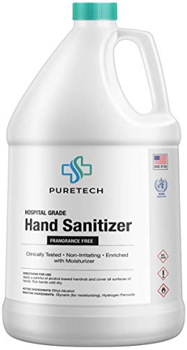 Premium Grade Hand Sanitizer Liquid Refill, 80% Alcohol - 1 Gallon, 128 Fl Oz, WHO Approved, Made in USA (1 Pack)