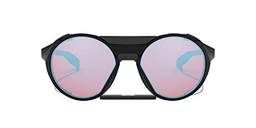 OO9440 Clifden Round Sunglasses, Polished Black/Prizm Snow Sapphire, 56 mm