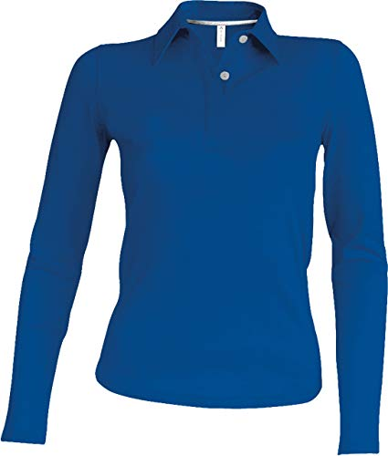 Kariban Damen Piqué Poloshirt Langarm - Light Royal Blue, S, Damen