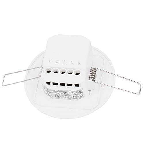 Interruptor De Luz Con Sensor De Movimiento, Interruptor De Luz Con Detector De Movimiento De Montaje En Techo, Alta Sensibilidad Ajustable Para La Oficina Del Hotel En Casa