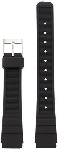 [クレファー]CREPHA 時計ベルト 16mm ウレタン バネ棒 工具付き ブラック KU-21