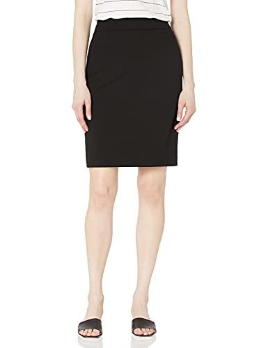 Calvin Klein Women's Straight Fit Suit Skirt (Regular and Plus Sizes), Black, 10